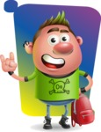 Punk Boy Cartoon Vector 3D Character AKA Carter Punk - Shape 5