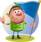 Punk Boy Cartoon Vector 3D Character AKA Carter Punk - Shape 8
