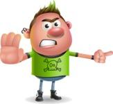 Punk Boy Cartoon Vector 3D Character AKA Carter Punk - Direct Attention