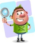 Punk Boy Cartoon Vector 3D Character AKA Carter Punk - Shape 12