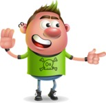 Punk Boy Cartoon Vector 3D Character AKA Carter Punk - Direct Attention 2