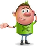 Punk Boy Cartoon Vector 3D Character AKA Carter Punk - Sorry