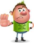 Punk Boy Cartoon Vector 3D Character AKA Carter Punk - Stop 2