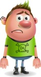 Punk Boy Cartoon Vector 3D Character AKA Carter Punk - Sad
