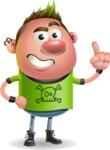 Punk Boy Cartoon Vector 3D Character AKA Carter Punk - Attention
