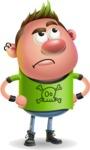 Punk Boy Cartoon Vector 3D Character AKA Carter Punk - Roll Eyes