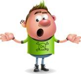 Punk Boy Cartoon Vector 3D Character AKA Carter Punk - Lost
