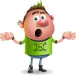 Punk Boy Cartoon Vector 3D Character AKA Carter Punk - Confused