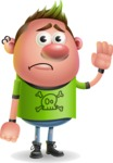 Punk Boy Cartoon Vector 3D Character AKA Carter Punk - Goodbye
