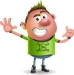 Punk Boy Cartoon Vector 3D Character AKA Carter Punk - Hello