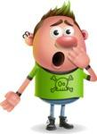 Punk Boy Cartoon Vector 3D Character AKA Carter Punk - Oops