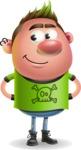 Punk Boy Cartoon Vector 3D Character AKA Carter Punk - Patient