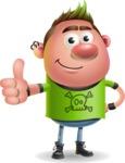 Punk Boy Cartoon Vector 3D Character AKA Carter Punk - Thumbs Up