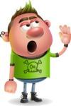 Punk Boy Cartoon Vector 3D Character AKA Carter Punk - Bored 2