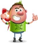 Punk Boy Cartoon Vector 3D Character AKA Carter Punk - Support
