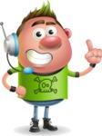 Punk Boy Cartoon Vector 3D Character AKA Carter Punk - Support 2
