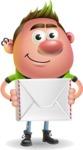 Punk Boy Cartoon Vector 3D Character AKA Carter Punk - Letter