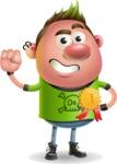 Punk Boy Cartoon Vector 3D Character AKA Carter Punk - Ribbon