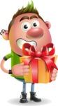 Punk Boy Cartoon Vector 3D Character AKA Carter Punk - Gift