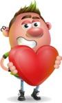 Punk Boy Cartoon Vector 3D Character AKA Carter Punk - Love