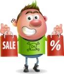 Punk Boy Cartoon Vector 3D Character AKA Carter Punk - Sale 2