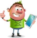 Punk Boy Cartoon Vector 3D Character AKA Carter Punk - iPad 3