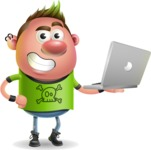Punk Boy Cartoon Vector 3D Character AKA Carter Punk - Laptop 1