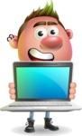 Punk Boy Cartoon Vector 3D Character AKA Carter Punk - Laptop 2