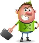 Punk Boy Cartoon Vector 3D Character AKA Carter Punk - Briefcase 1