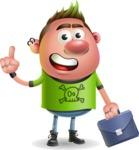 Punk Boy Cartoon Vector 3D Character AKA Carter Punk - Briefcase 2