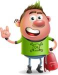 Punk Boy Cartoon Vector 3D Character AKA Carter Punk - Backpack