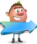 Punk Boy Cartoon Vector 3D Character AKA Carter Punk - Pointer 2