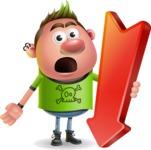 Punk Boy Cartoon Vector 3D Character AKA Carter Punk - Pointer 3
