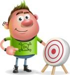 Punk Boy Cartoon Vector 3D Character AKA Carter Punk - Target