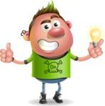 Punk Boy Cartoon Vector 3D Character AKA Carter Punk - Idea 1