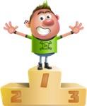 Punk Boy Cartoon Vector 3D Character AKA Carter Punk - On Top
