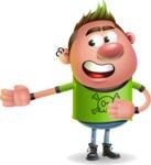 Punk Boy Cartoon Vector 3D Character AKA Carter Punk - Show 2