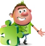 Punk Boy Cartoon Vector 3D Character AKA Carter Punk - Puzzle