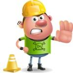 Punk Boy Cartoon Vector 3D Character AKA Carter Punk - Under Construction 1