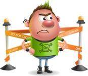 Punk Boy Cartoon Vector 3D Character AKA Carter Punk - Under Construction 2
