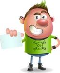 Punk Boy Cartoon Vector 3D Character AKA Carter Punk - Sign 1