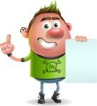 Punk Boy Cartoon Vector 3D Character AKA Carter Punk - Sign 2