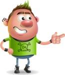Punk Boy Cartoon Vector 3D Character AKA Carter Punk - Point