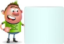 Punk Boy Cartoon Vector 3D Character AKA Carter Punk - Sign 8