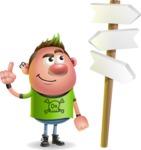 Punk Boy Cartoon Vector 3D Character AKA Carter Punk - Crossroad