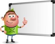 Punk Boy Cartoon Vector 3D Character AKA Carter Punk - Presentation 3