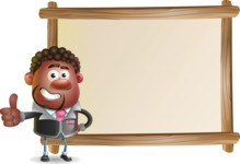 Vector 3D African American Businessman Cartoon Character AKA Brayden - Presentation 5