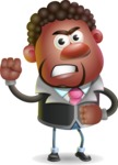 Vector 3D African American Businessman Cartoon Character AKA Brayden - Angry