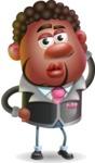 Vector 3D African American Businessman Cartoon Character AKA Brayden - Duckface