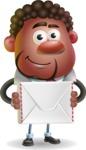 Vector 3D African American Businessman Cartoon Character AKA Brayden - Letter
